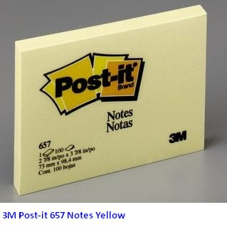Supplier ATK Post-it 3M 657 Notes Yellow Harga Grosir