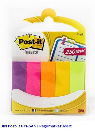 Supplier ATK Post-it 3M 671-5ANL Pagemarker Assrt Harga Grosir