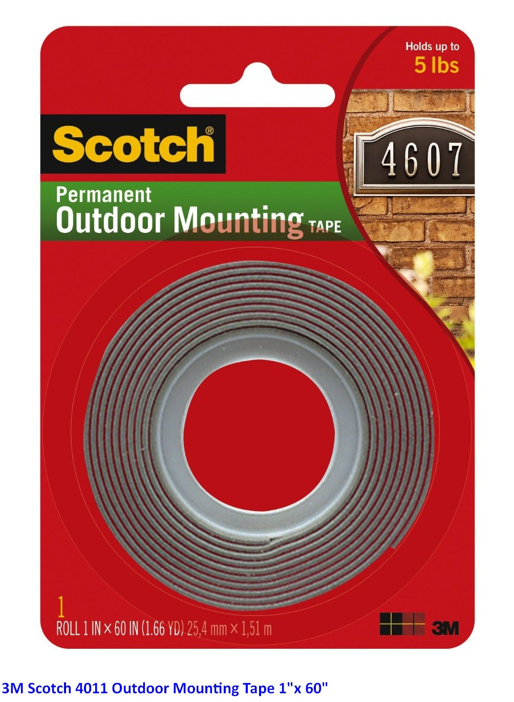 "Supplier ATK Scotch 3M 4011 Outdoor Mounting Tape 1""x 60"" Harga Grosir"