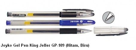 Supplier ATK Joyko Gel Pen King Jeller GP-109 (Hitam, Biru) Harga Grosir
