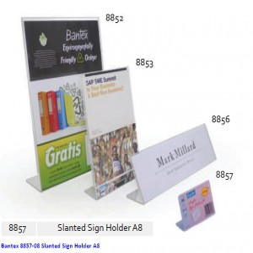 Supplier ATK Bantex 8857-08 Slanted Sign Holder A8 Harga Grosir