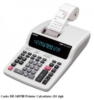 Supplier ATK Casio DR-140TM Kalkulator Printer (14 digit) Harga Grosir