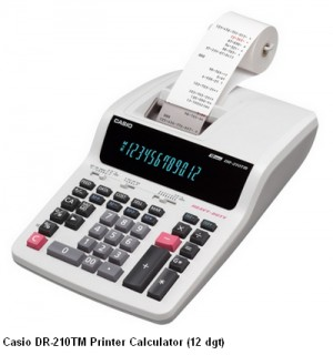 Supplier ATK Casio DR-210TM Kalkulator Printer (12 digit) Harga Grosir