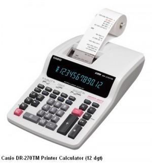 Supplier ATK Casio DR-270TM Kalkulator Printer (12 digit) Harga Grosir