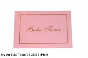 Supplier ATK Joy-Art Buku Tamu GB-2030-5 (Pink) Harga Grosir