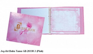 Supplier ATK Joy-Art Buku Tamu GB-2833R-3 (Pink) Harga Grosir