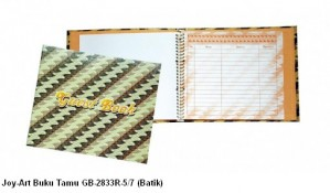 Supplier ATK Joy-Art Buku Tamu GB-2833R-5/7 (Batik) Harga Grosir